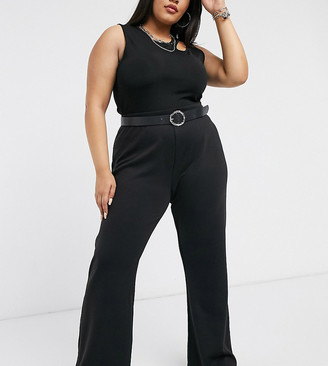 Only Curve flared trouser in black