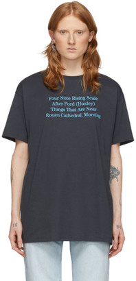 Raf Simons Black Four Note T-Shirt