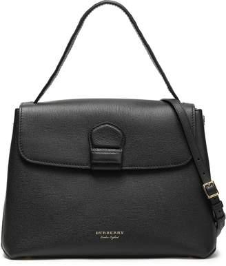 Burberry Jacquard-paneled Textured-leather Shoulder Bag