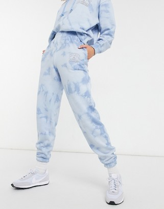 New Look co-ord tie dye jogger in blue