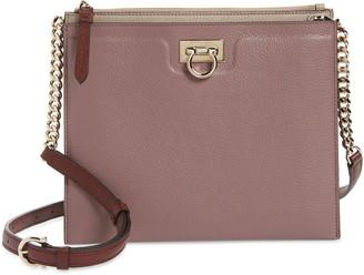 Salvatore Ferragamo Colorblock Trifolio Leather Crossbody Bag