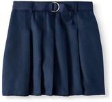 Wonder Nation Girls Plus 8-18 School Uniform Pleated Belted Scooter Skirt