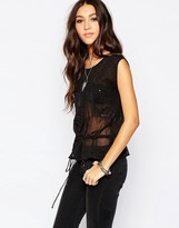 Pepe Jeans Sleeveless Shirt with Drawstring Waist