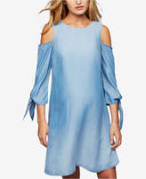 A Pea in the Pod Maternity Cold-Shoulder Chambray Dress