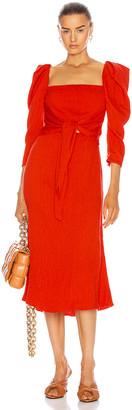 Johanna Ortiz Lady Of Heaven Midi Dress in Lava Red   FWRD