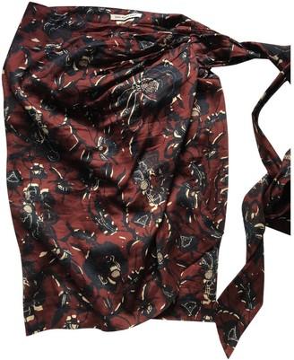 Etoile Isabel Marant Burgundy Cotton Skirt for Women