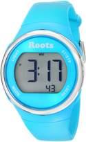 Roots Women's 1R-AT405AQ1A Cayley Digital Display Quartz Blue Watch