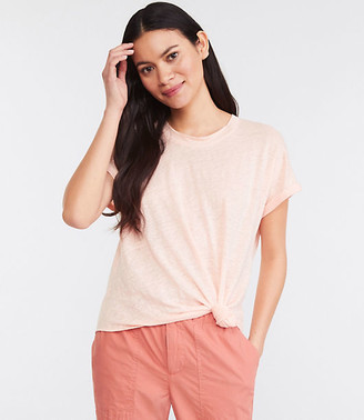 LOFT Lou & Grey Knotted Softserve Linen Tee