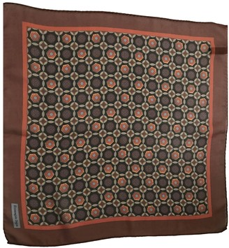Ermenegildo Zegna Brown Silk Scarves & pocket squares
