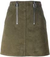 Courreges zip detail a-line mini skirt