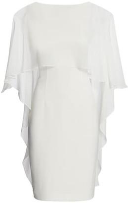 Teri Jon by Rickie Freeman Chiffon Cape Combo Sheath Dress