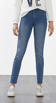 Esprit Striped stretch trousers in a denim look