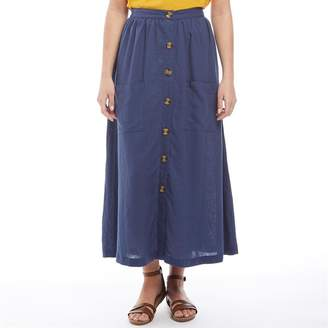 Only Womens Rhonda Ankle Length Skirt Insignia Blue