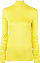 Cédric Charlier turtle neck jersey jumper - women - Rayon/Polyimide - 38