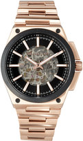 MICHAEL Michael Kors Wilder Rose Golden Stainless Steel Automatic Skeleton Watch
