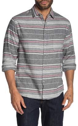 Natural Blue Stripe Flannel Shirt