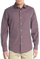 Saks Fifth Avenue Regular-Fit Yarn-Dye Check Sportshirt