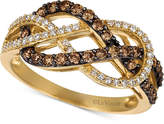 LeVian Le Vian Chocolatier Diamond Weave Ring (5/8 ct. t.w.) in 14k Gold
