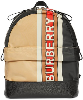 BURBERRY KIDS Signature Colour Block Backpack