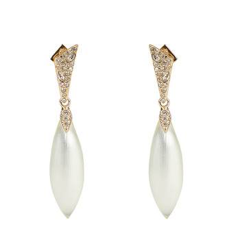 Alexis Bittar Pave Capped Petal Post Earring