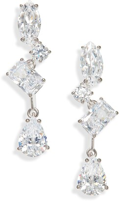Nadri After Party Cubic Zirconia Drop Earrings