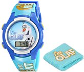 Disney Kids' FNF005T Olaf Digital Watch with Wristband Gift Set