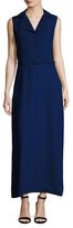 Carven Sleeveless Belted Maxi Dress