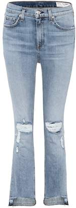 Rag & Bone 10 Inch Stove Pipe cropped jeans
