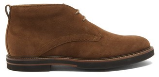 Tod's Rubber-sole Suede Desert Boots - Brown