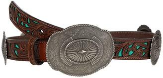 Ariat 1 1/4 Embossed Concho Belt (Brown) Women's Belts