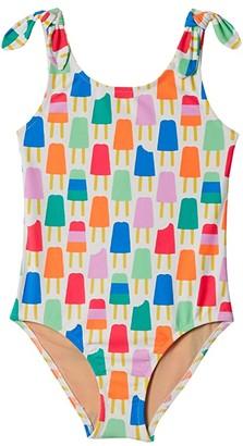 crewcuts by J.Crew Tie-Shoulder One-Piece Swimsuit (Little Kids/Big Kids) (Sea Mist Orchid) Girl's Swimwear Sets