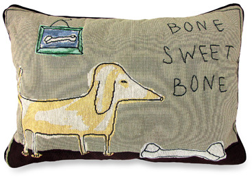 Bed Bath & Beyond PB Paws Pet Collection Bone Sweet Bone Tapestry Decorative Pillows - Set of 2