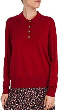 Gerard Darel Sacha Wool & Cashmere Button-Front Sweater