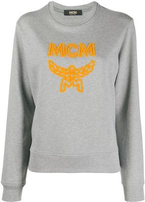 MCM Logo Print Cotton Sweatshirt