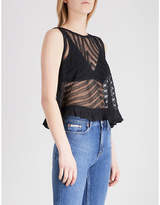 Free People She's a Doll ruffled lace vest