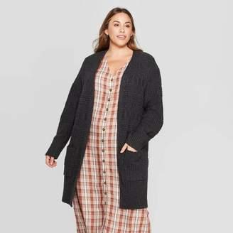 Universal Thread Women's Plus Size Long Sleeve Open Layering Textured Duster Cardigan - Universal ThreadTM