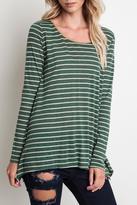 Umgee USA Striped Long-Sleeve Top