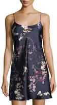 Natori Pandora Floral-Print Silk Chemise