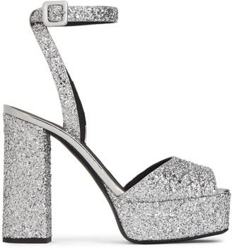 Giuseppe Zanotti Laila glitter platform sandals