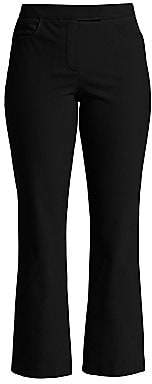 Theory Women's Cropped Straight-Leg Trousers