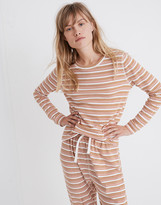 Madewell Honeycomb Pajama Tee in Kasson Stripe