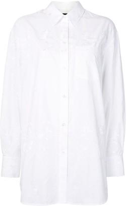 Simone Rocha Floral Embroidery Cotton Shirt