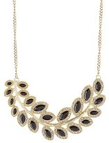 Charlotte Russe Diamante-Studded Faceted Stone Bib Necklace