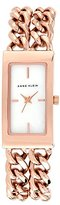 Anne Klein Women's Quartz Watch with White Dial Analogue Display and Rose Gold Stainless Steel Bracelet AK/N1668WTRG