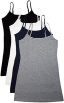 Active Products Active Basics Women's Camisole 8745 - 4 PACK: BLACKBEIGE, XXL