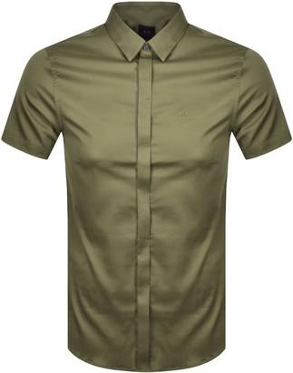 Armani Exchange Slim Fit Short Sleeved Shirt Green