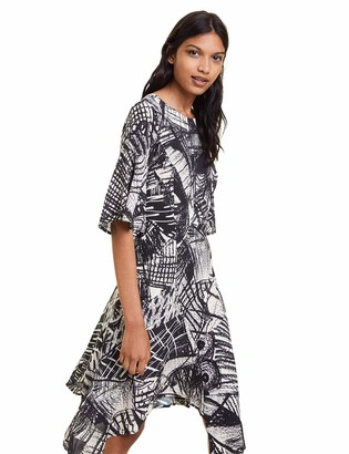 Desigual womens DRESS MARIAN Knee-Length 3/4 Sleeve Dress