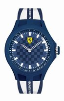 Ferrari Men's 0830193 Pit Crew Analog Display Quartz White Watch