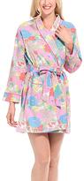 Malabar Bay Pink & Blue Floral Organic Cotton Robe