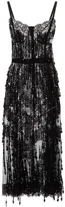 Dolce & Gabbana Bead-Applique Sheath Dress